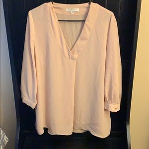 Tops - Taupe sheer top xl